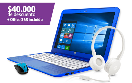 Notebook HP Stream 11-r002la + Mouse Wireless + Audifonos